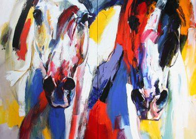 2-luik Paarden